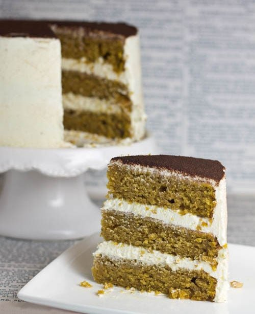Pumpkin Cake with Maple Cream Cheese Frosting - Swanky Recipes