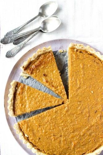 Traditional Pumpkin Pie.