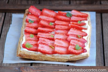 Strawberry Pastry with White Chocolate Cream Cheese 1