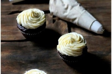 Toasted Coconut Chocolate Cupcakes