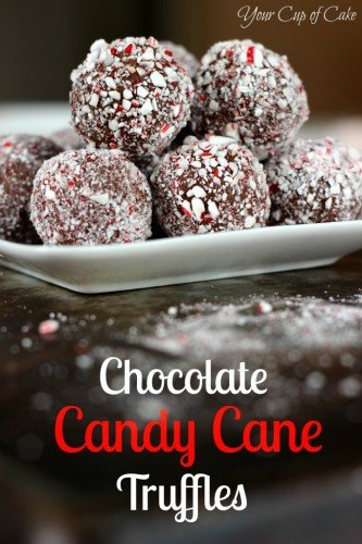 Chocolate Candy Cane Truffles Recipe