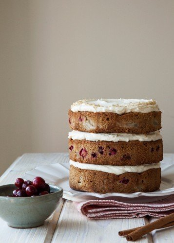 Layered Cranberry Cake 1