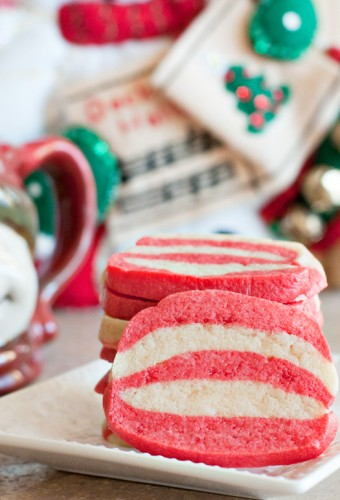 Peppermint Stripped Cookies