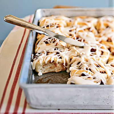Cinnamon Pecan Rolls with Maple Glaze