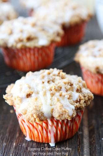 Eggnog Coffee Cake Muffins