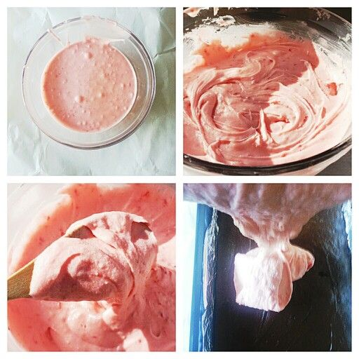 Strawberry Buttercream frosting steps