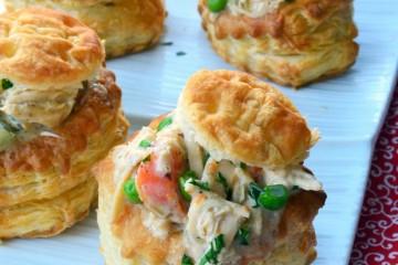 Chicken Pot Pie Puffy Pastries