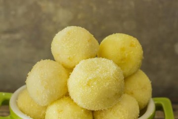 Lemon Truffles with White Sanding Sugar