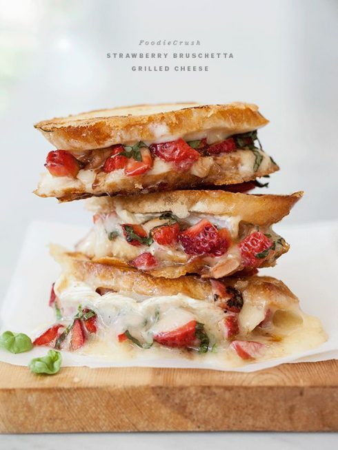 Strawberry Bruschetta Grilled Cheese