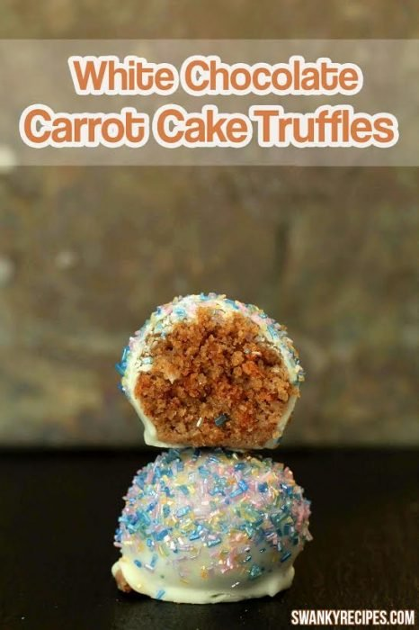 White Chocolate Carrot Cake Truffles