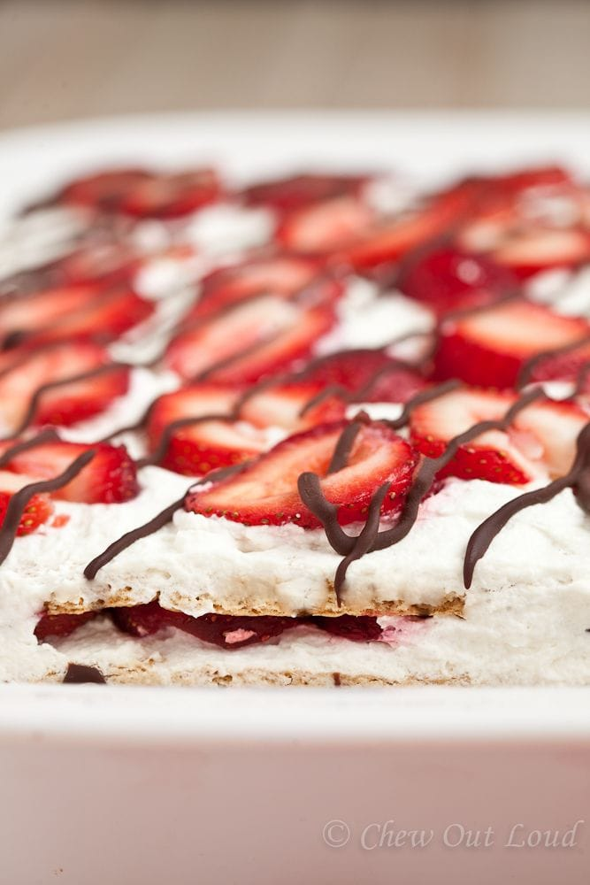 No Bake Strawberry Ice Box Cake