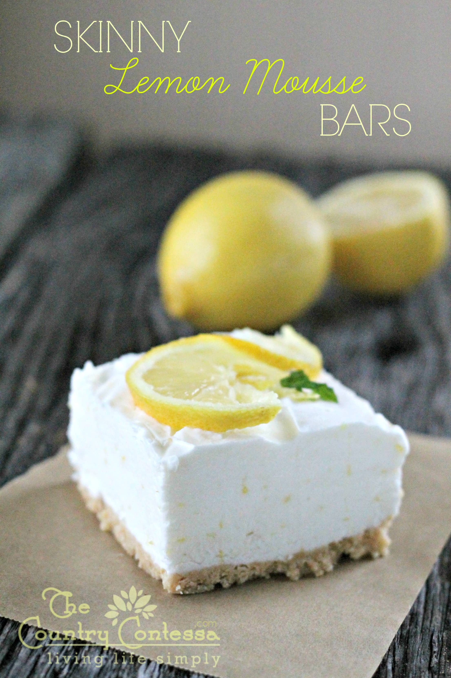 skinny lemon mousse bars swanky recipes. Black Bedroom Furniture Sets. Home Design Ideas