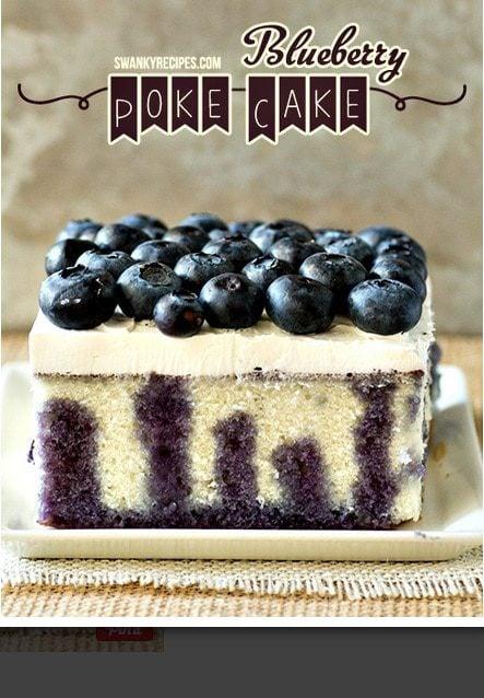 Blueberry Lemon Poke Cake Swanky Recipes