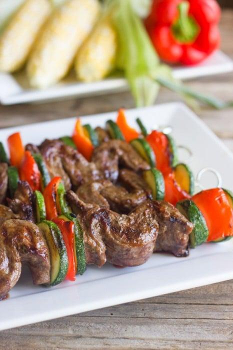 Grilled Steak Kebabs