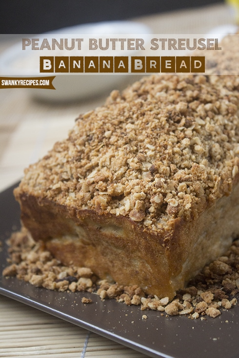 Peanut Butter Streusel Banana Bread REcipe