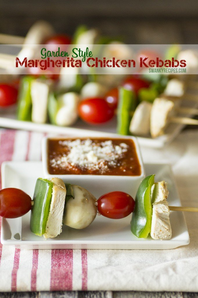 Garden Style Margherita Chicken Kebabs with Ragú Dipping Sauce #NewTraDish