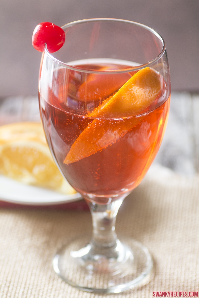 A classic Shirley Temple has lemon lime soda, such as 7UP®, ginger ale and maraschino cherry juice or grenadine.  It's served with an orange slice and cherry and makes for a refreshing drink recipe.
