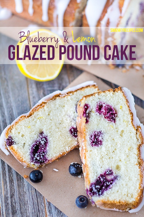 Glazed Blueberry Lemon Pound Cake