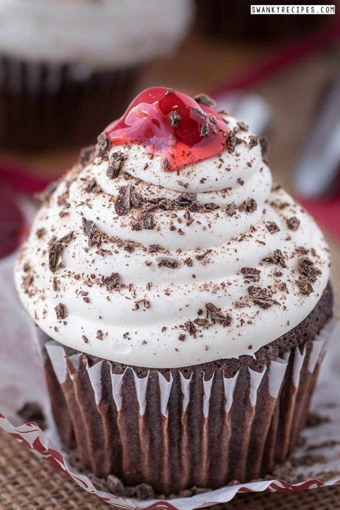 Frosted Black Forest Cupcakes
