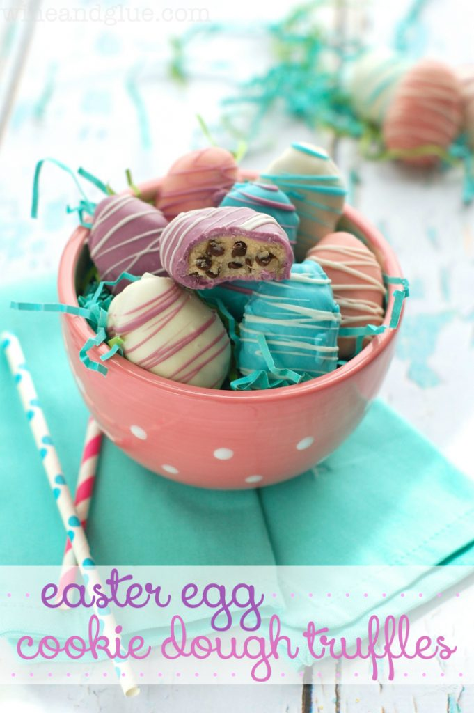 Cookie Dough Easter Egg Truffles
