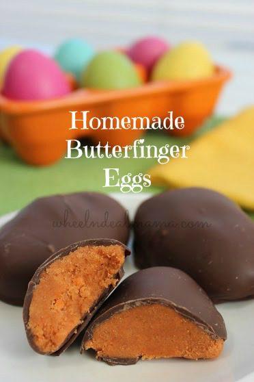 Homemade Butterfinger Eggs
