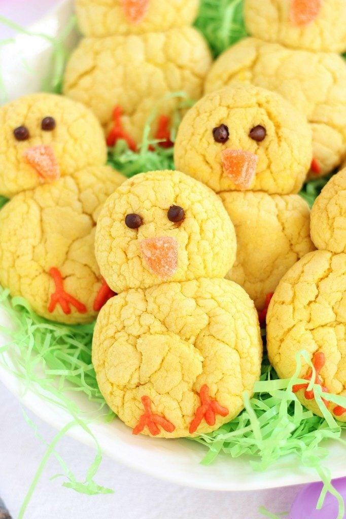 Lemon Cookie Easter Chicks