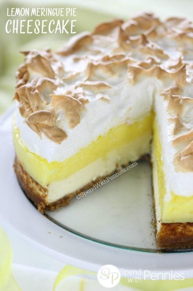 Lemon Lovers Luscious Cheesecake Pie Recipe — Dishmaps