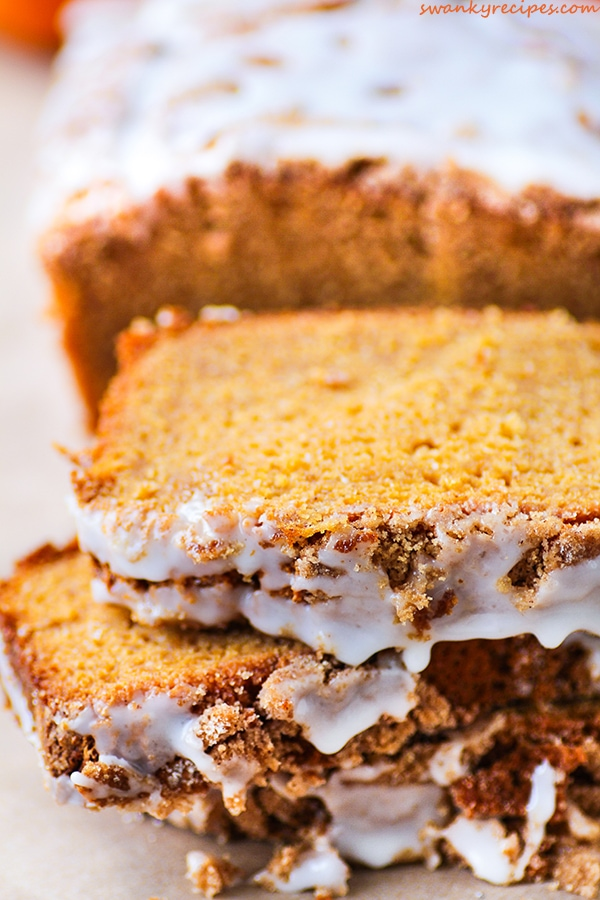 Sugar Crusted Pumpkin Bread
