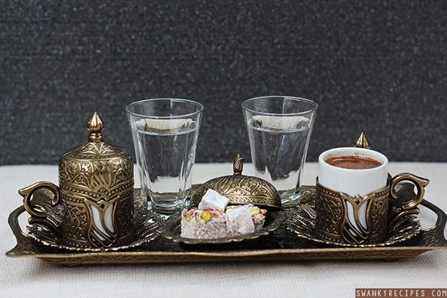 How to serve turkish coffee