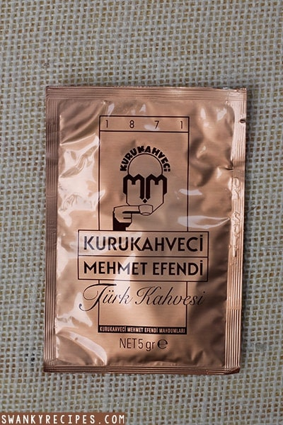 Famous turkish coffee brand