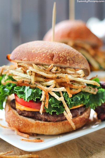 Shoestring Fries Beef Sliders
