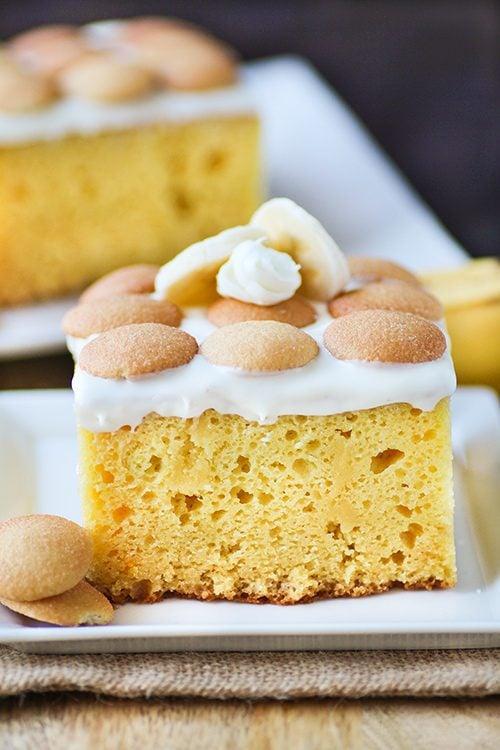 Banana Pudding Cake - Swanky Recipes - Simple tasty food recipes
