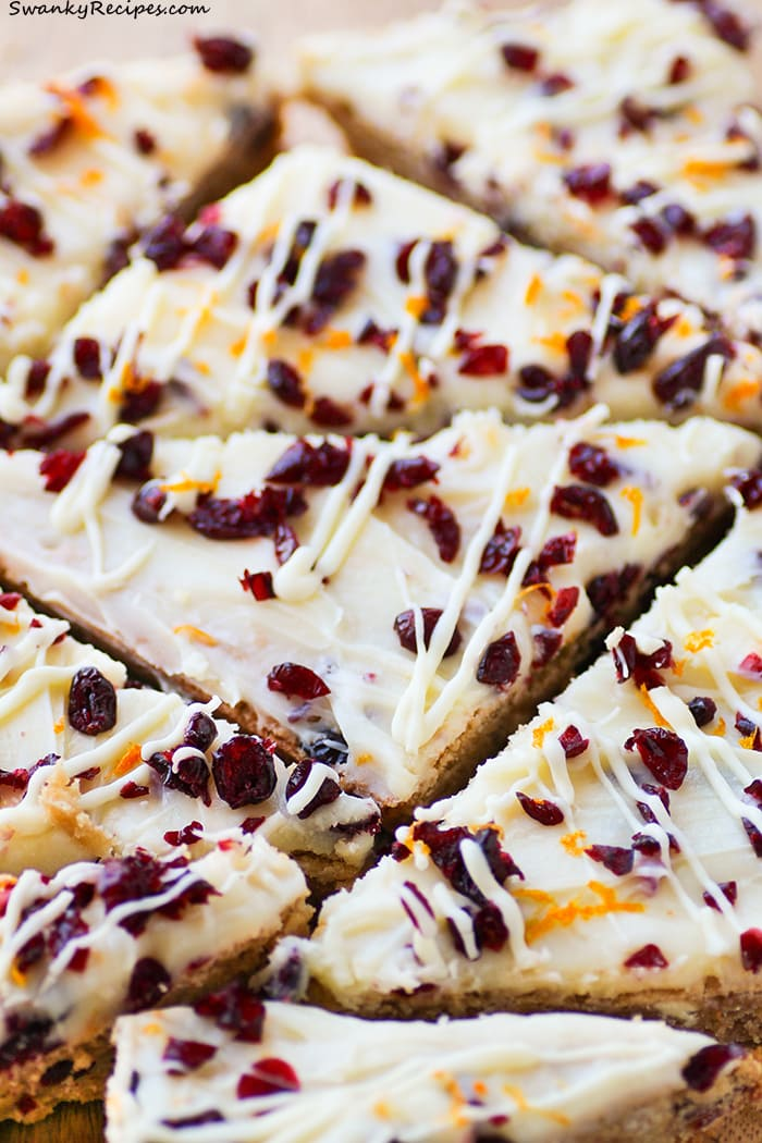 Cranberry Orange Bliss Bars
