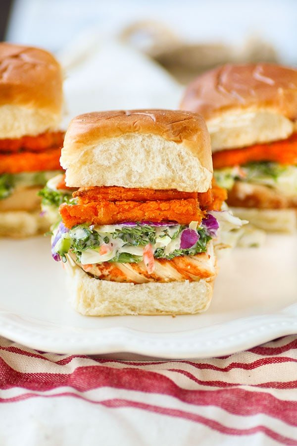Grilled Chicken Sweet Potato Sliders