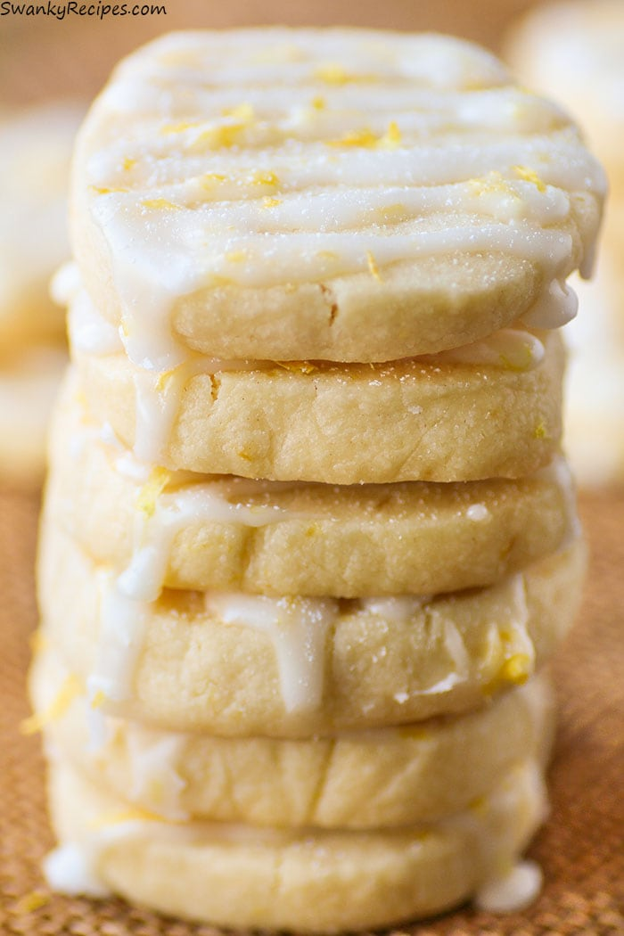 Iced Lemon Shortbread Cookies