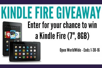 Kindle Fire Giveaway, Ends Jan 30 2016