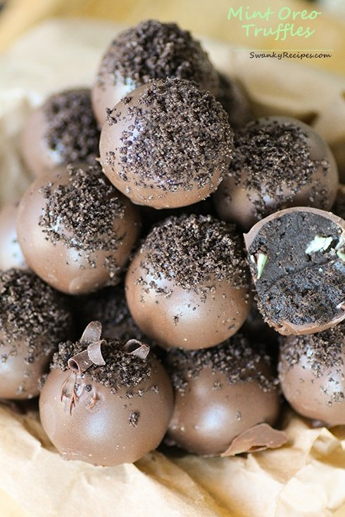 Mint Oreo Truffles - Swanky Recipes