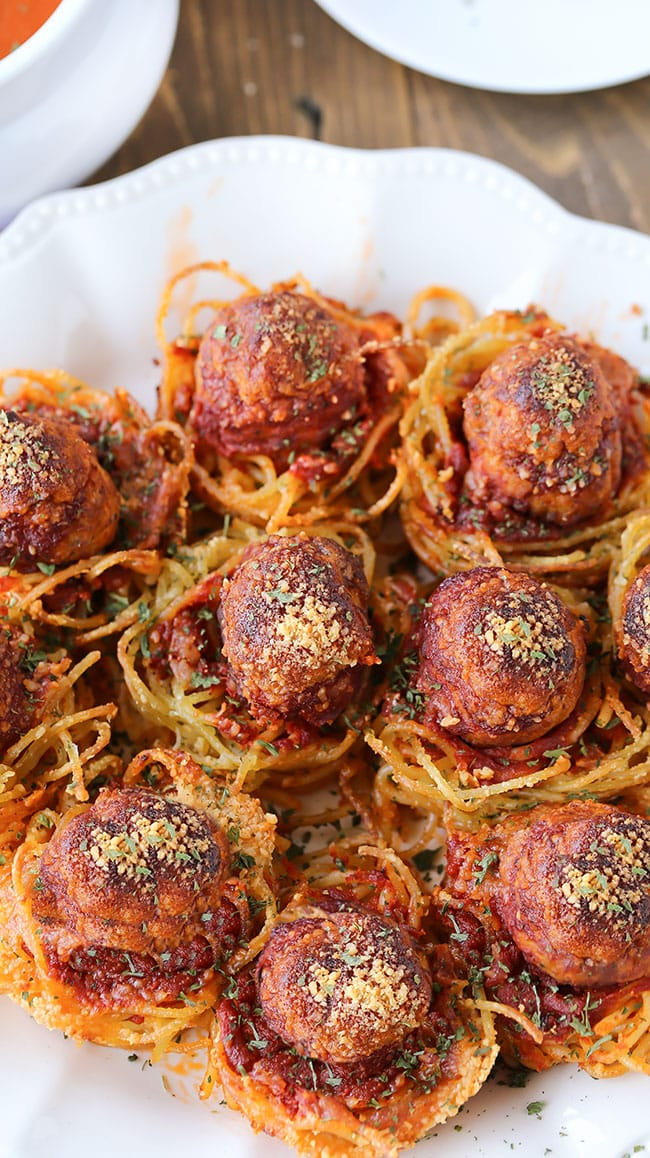 Spaghetti Meatball Appetizers