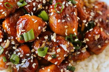 Sticky Sesame Garlic Chicken