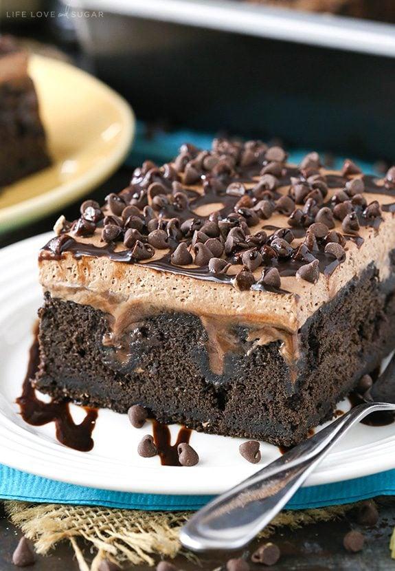 Chocolate Poke Cake Guiness