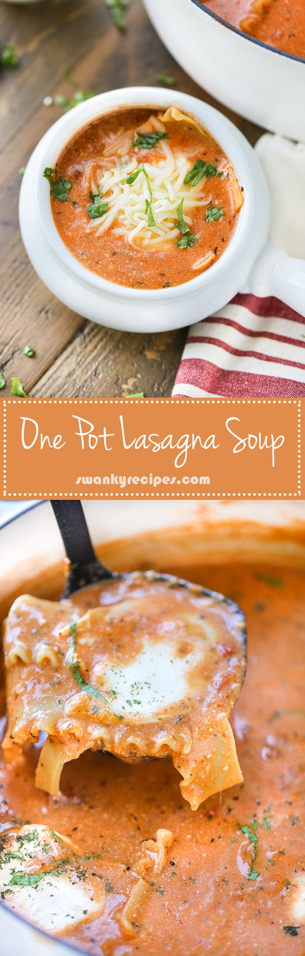 One Pot Lasagna Soup - pinterest