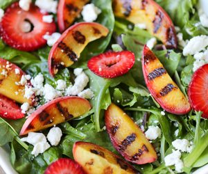 Strawberry Grilled Peach Salad