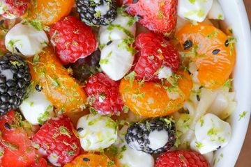 Pasta Fruit Salad with Key Lime Pie Dressing
