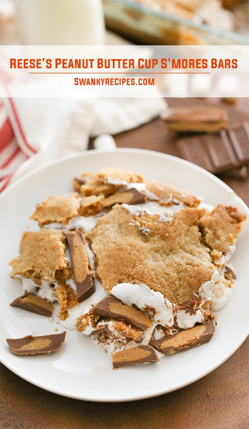 Reese's Peanut Butter Cup S'mores Bars