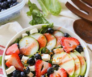 Strawberry Cucumber Mozzarella Salad