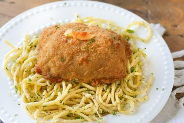 chicken-cordon-bleu-with-lemon-parmesan-pasta
