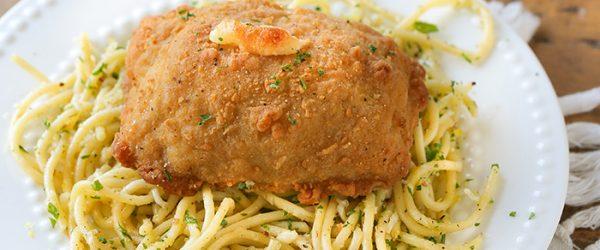chicken-cordon-bleu-with-lemon-parmesan-pasta