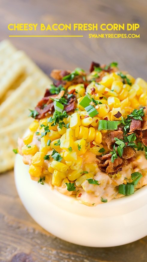 Cheesy Bacon Corn Dip - A fun dip to make for a crowd!