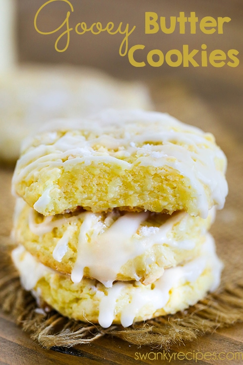 Gooey Butter Cookies - Decadent gooey, chewy, and buttery cake mix cookies. These Gooey Butter Cookies have a rich butter flavor, chewy center, and tender cookie texture.