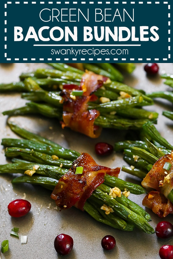 Bacon Green Bean Bundles - Everyone raves how delicious this honey garlic glazed green bean bacon bundles are for Thanksgiving. A healthier Thanksgiving side dish recipe.